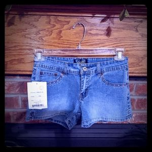 Angels brand new embellished jean shorts Junior 9